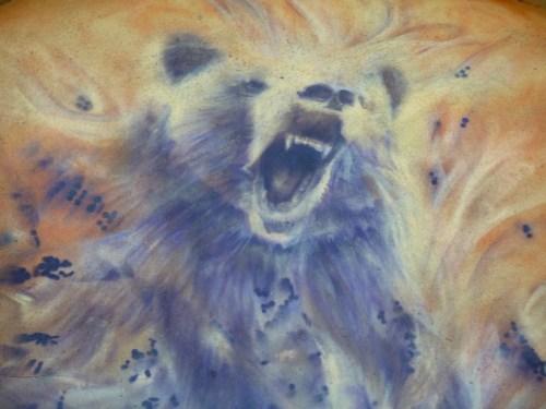 wild bear graffiti