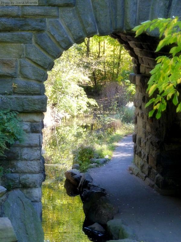 Photo of archway near Upper West Side pond in Central Park, taken by Joana Miranda