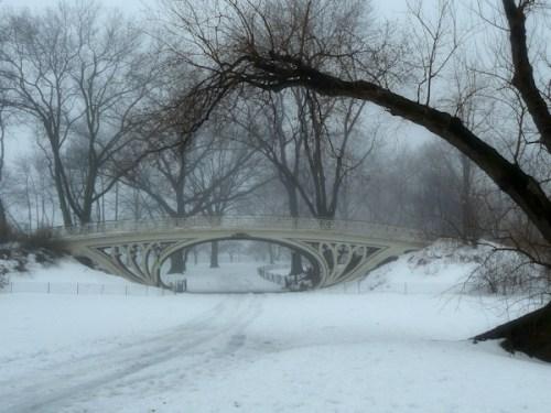 bridge near Jackie Onassis Reservoir