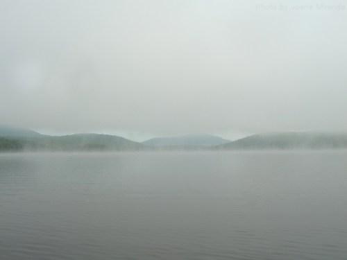 Goose Pond in the fog