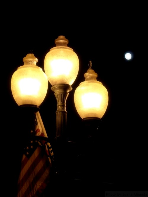 lanterns and the moon