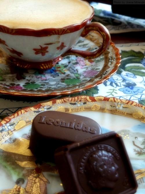 Leonidas chocolate and coffee