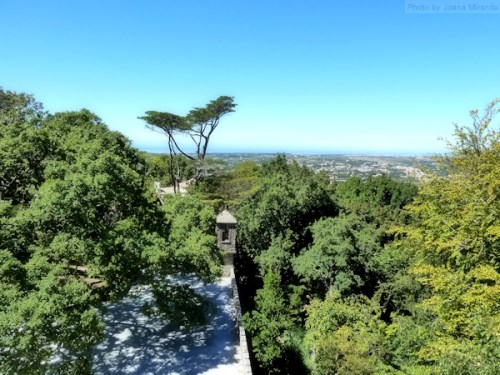 view to the ocean from Quinta Regaleira