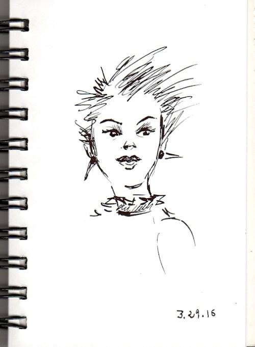 Punk pixie sketch