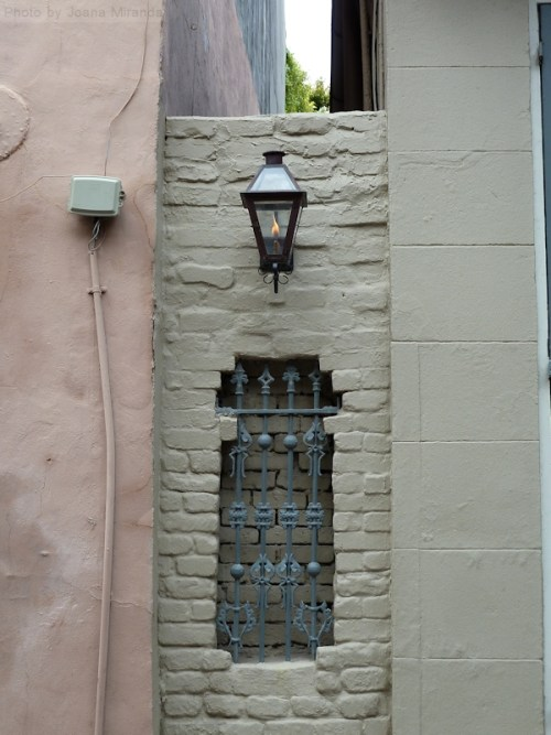 Window grill in wall in New Orleans
