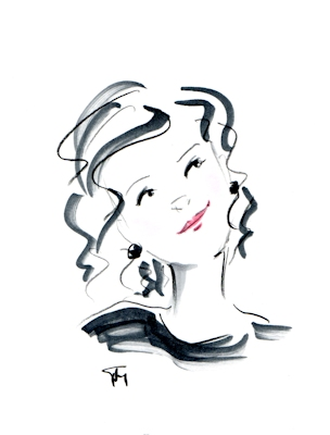 whimsical head sketch