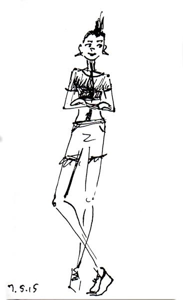 quick punk girl sketch