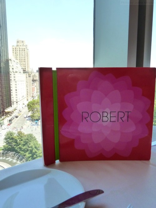 Robert restaurant menu