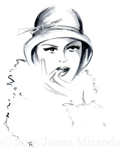 Sultry flapper for blog