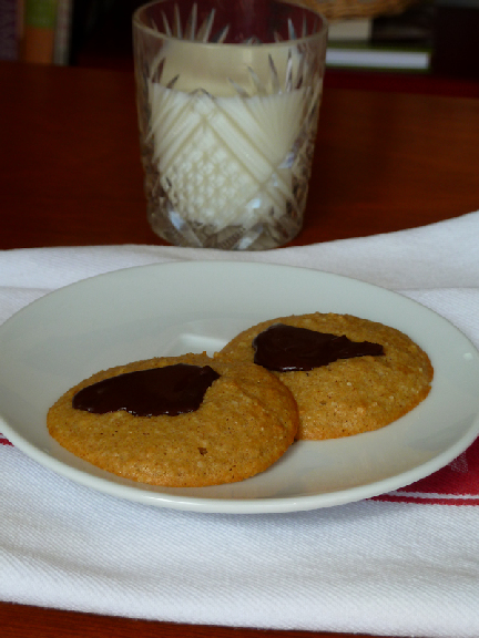 two cookies and milk