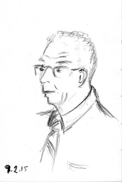 Man in glasses sketch