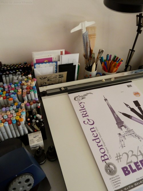 Photo of my drafting table workspace
