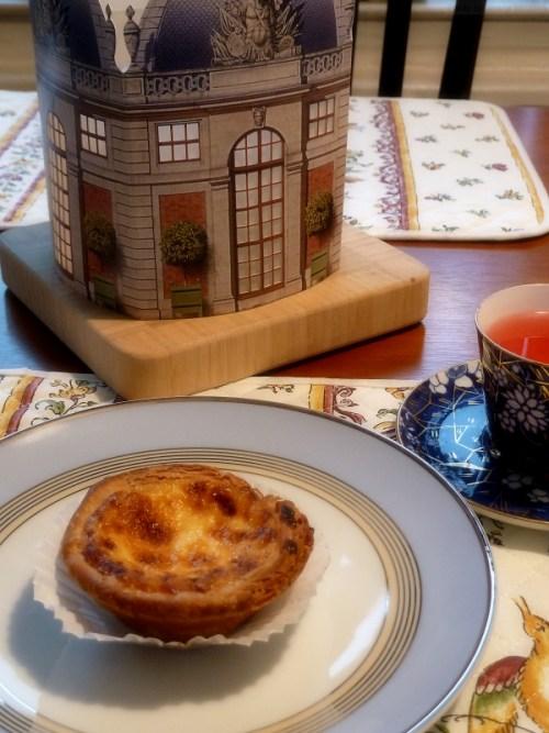 Afternoon tea with pastelo de nata
