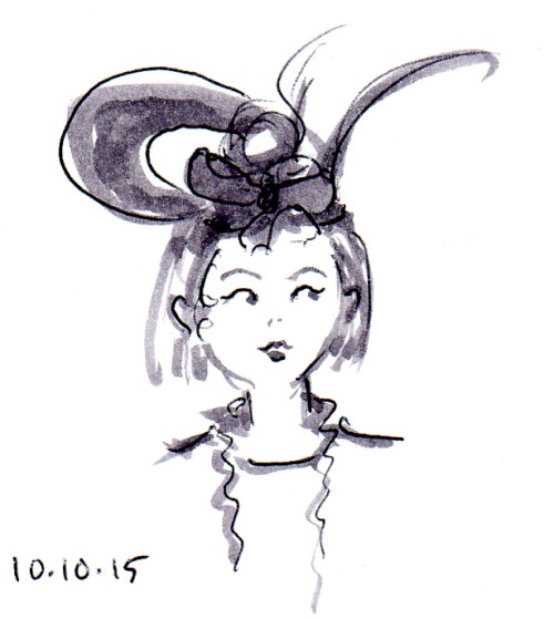 whimsical fascinator hat sketch