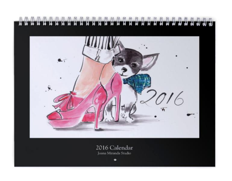 2016 Calendar Cover for Etsy