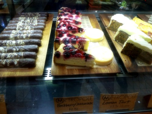 Assorted cakes at Metropole cafe 2