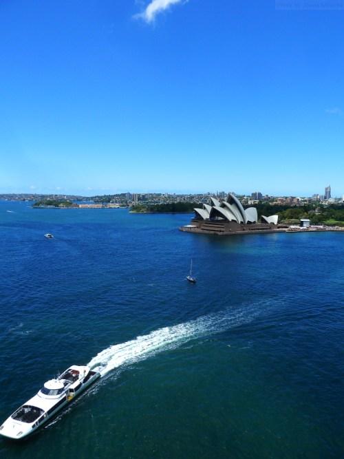 Far above the Sydney Opera House