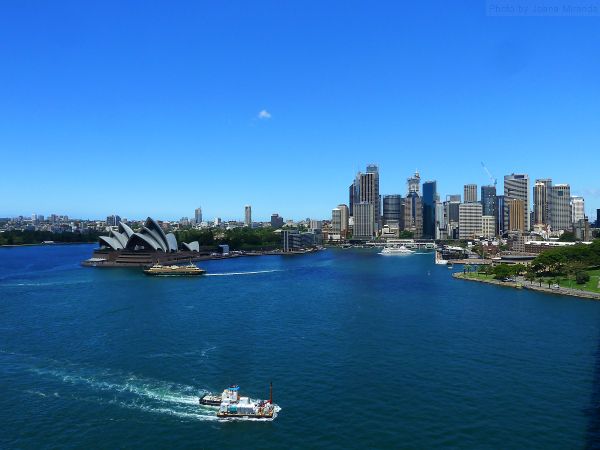 Sydney Harbor as seen from Sydney Bridge