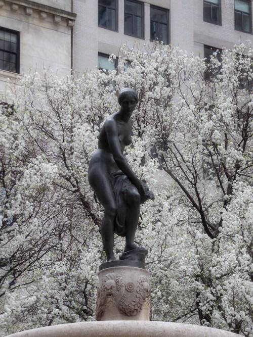 Central Park South during springtime