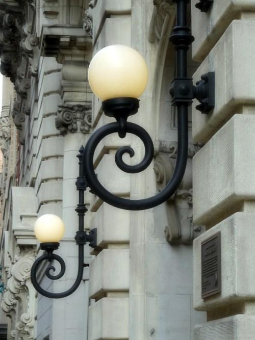 Fancy lanterns on Central Park West