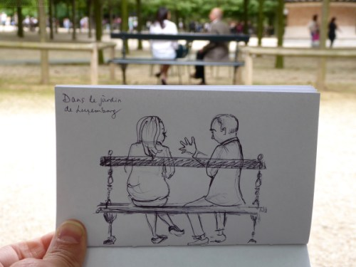 Quick sketch with subjects