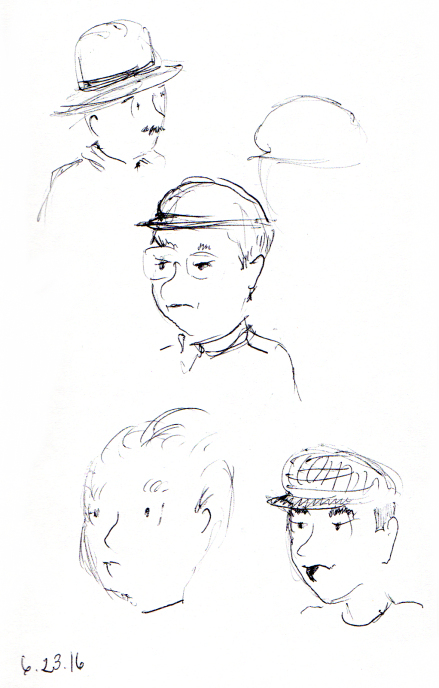 cartoon head illustration studies