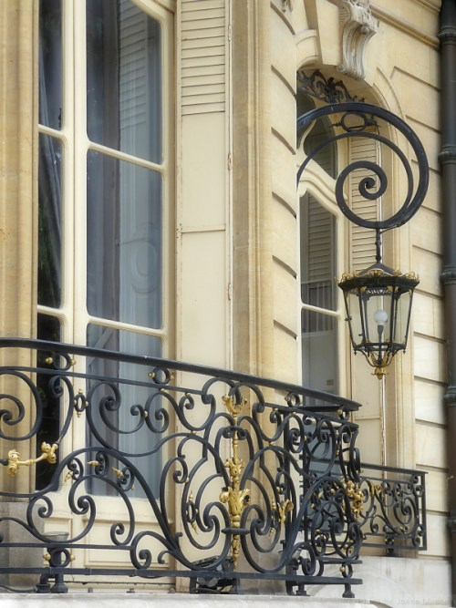 Ornate lantern on the Champs Elysees