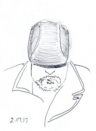 cartoon-of-seating-man-looking-down