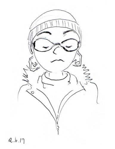 girl-with-the-hexagonal-earrings-sketch