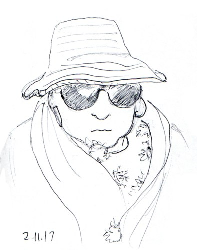 woman-with-the-pom-pom-shawl-and-sunglasses-sketch