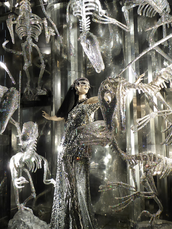 Detail photo from the American Museum of Natural History holiday window at Bergdorf Goodman's, taken by Joana Miranda