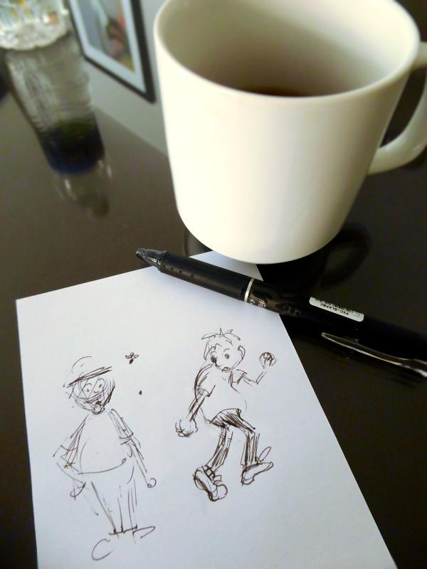 Cartooning warmup