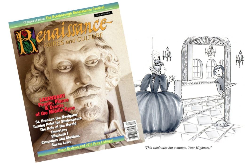 Published Work - Renaissance Renovations -  Cartoon for Renaissance Magazine by Joana Miranda