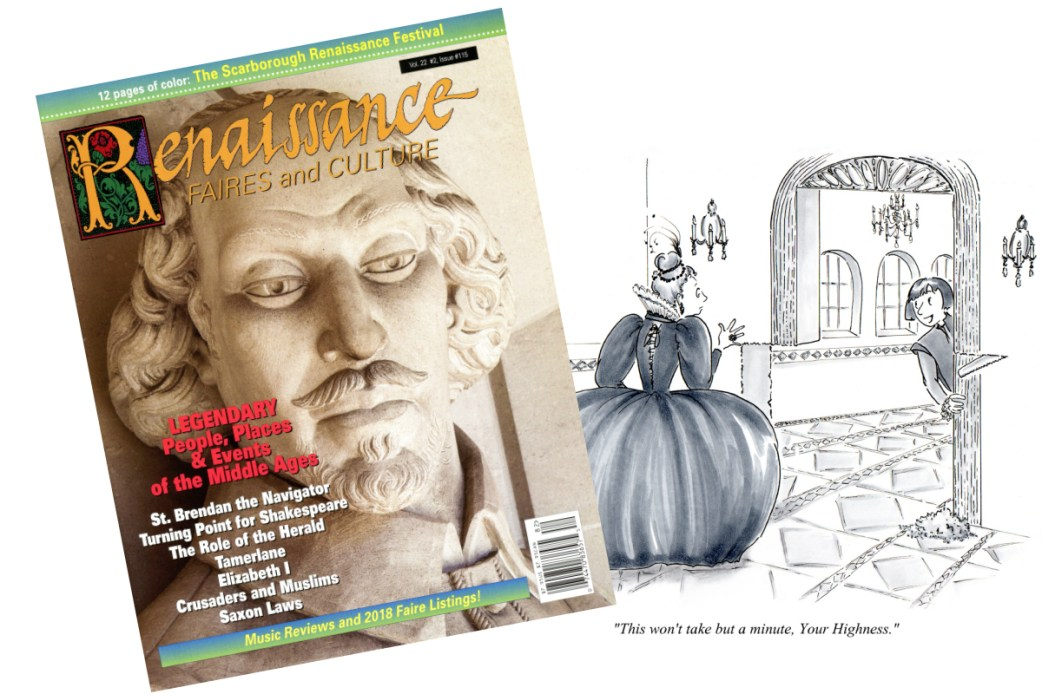 Published Work - Renaissance Renovations -  Cartoon for Renaissance Magazine by Joana Miranda
