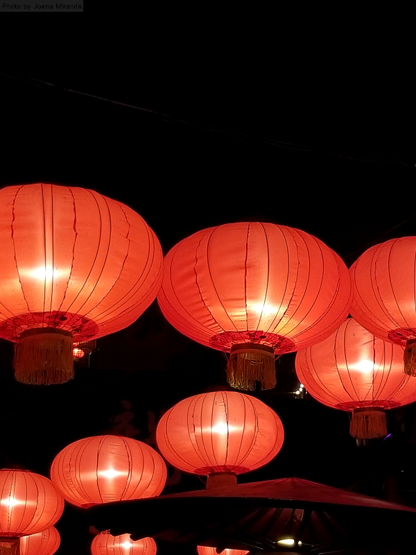 Red lanterns at Tivoli Gardens