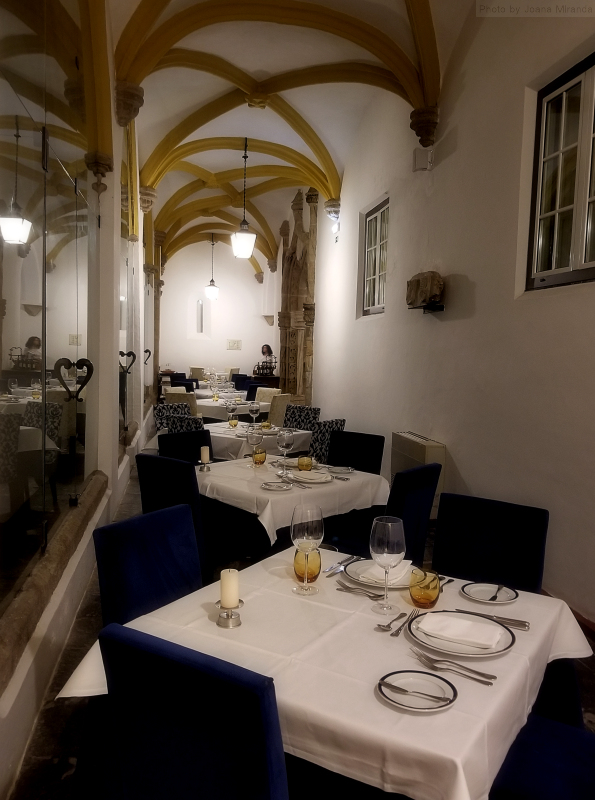 Dining room at Pousada dos Loios in Evora