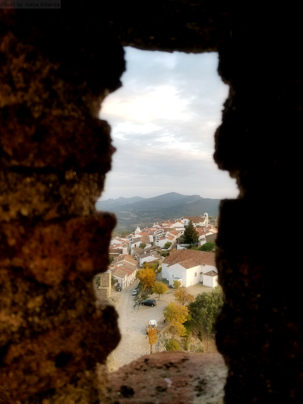Marvao as seen through the castle wall