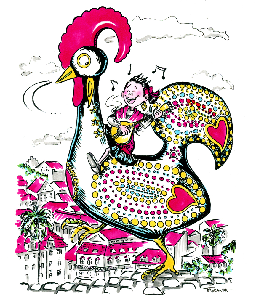 Whimsical children's book illustration - My Heritage - Marker and ink children's book art by Joana Miranda