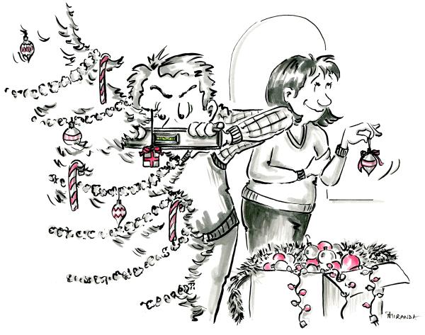 Funny Christmas card for couples by Joana Miranda Studio