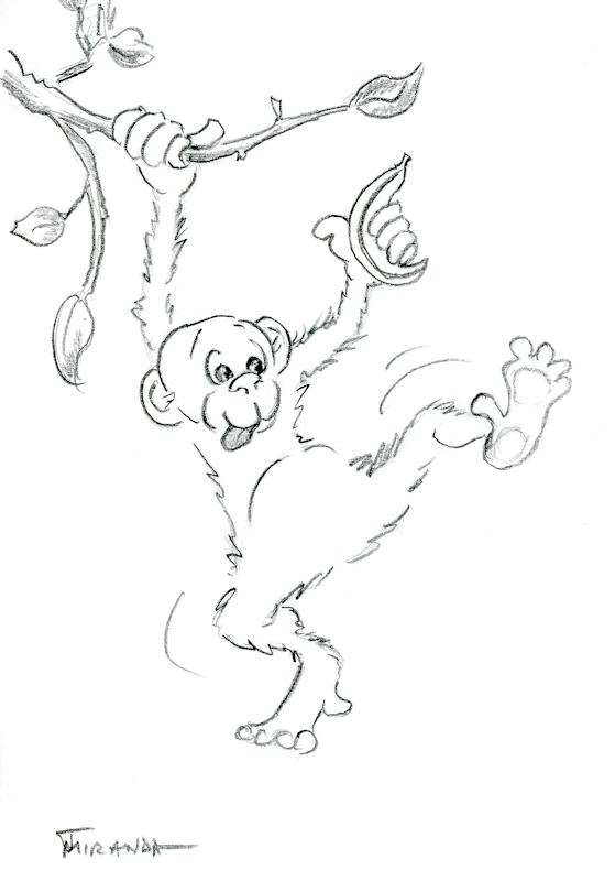Cage free monkey cartoon