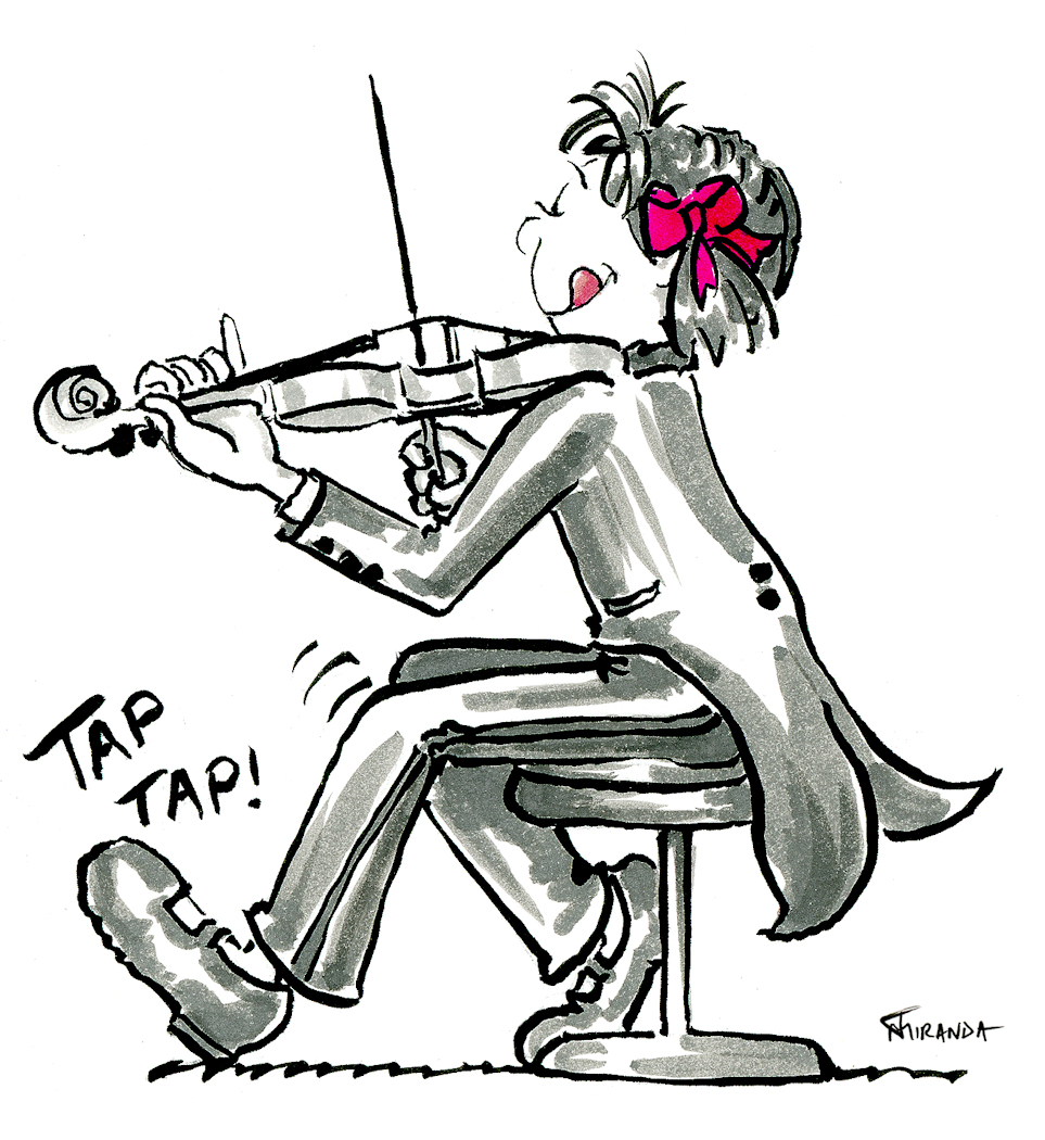 The Little Violinist Cartoon Animation by Joana Miranda