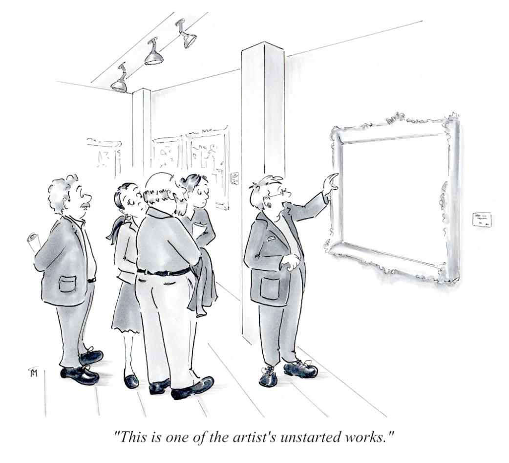 Unstarted museum cartoon by Joana Miranda