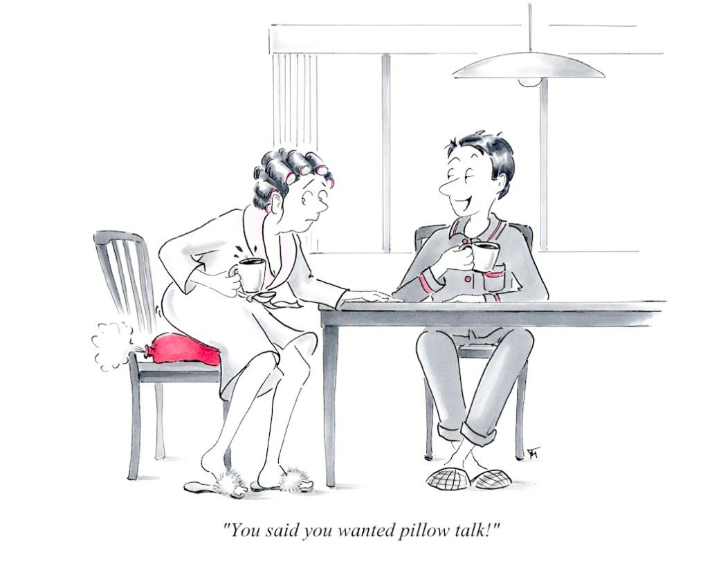 Marriage Cartoons - Whoopee cushion cartoon by Joana Miranda