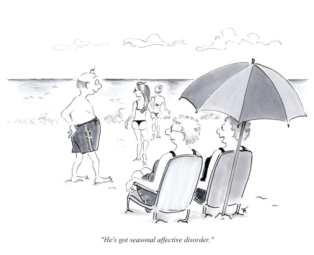 Beach cartoon by Joana Miranda