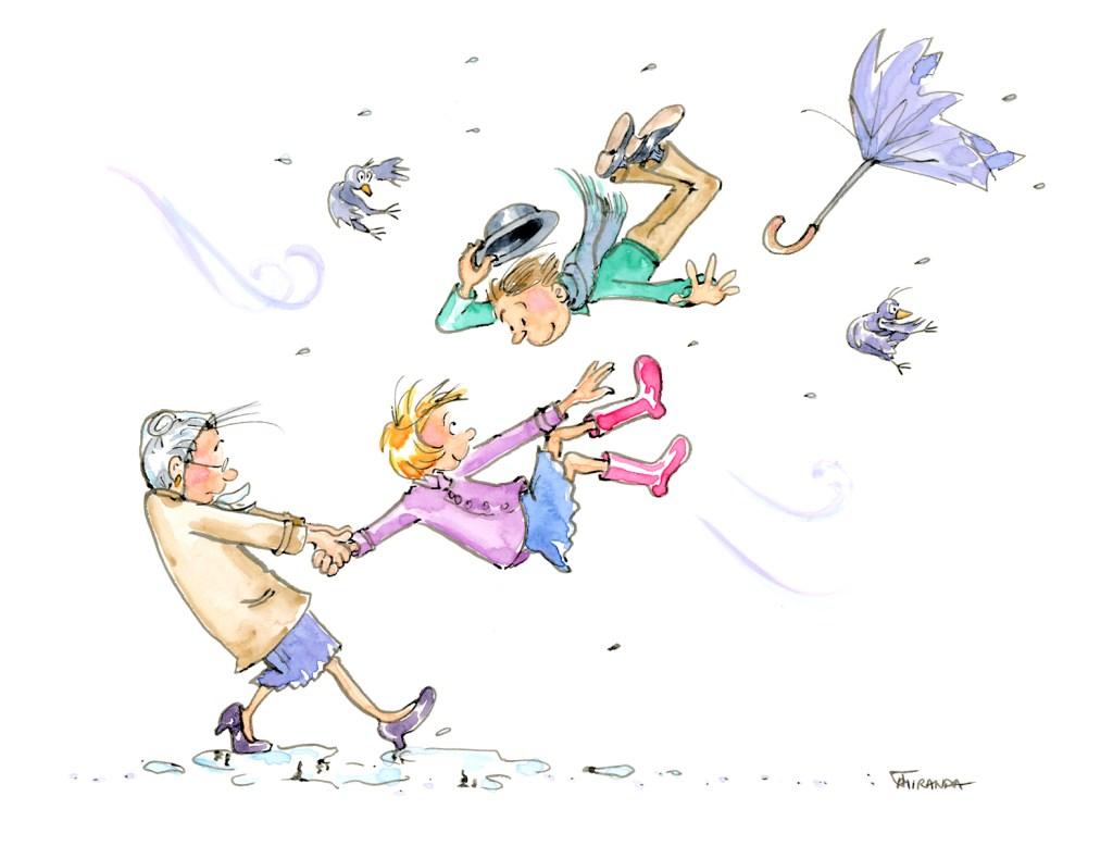 Blustery Children's Art by Joana Miranda Studio