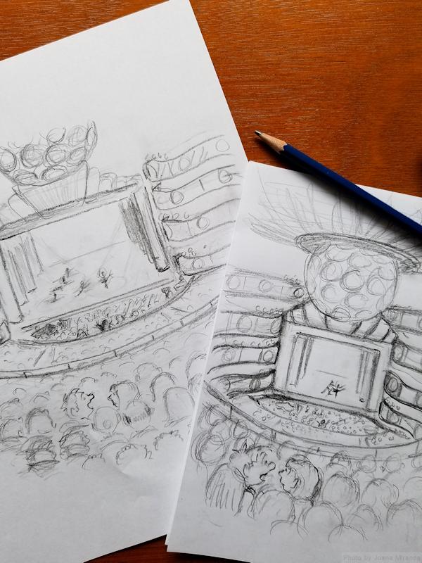 Revised cartoon doodles for custom cartoon greeting card by Joana Miranda