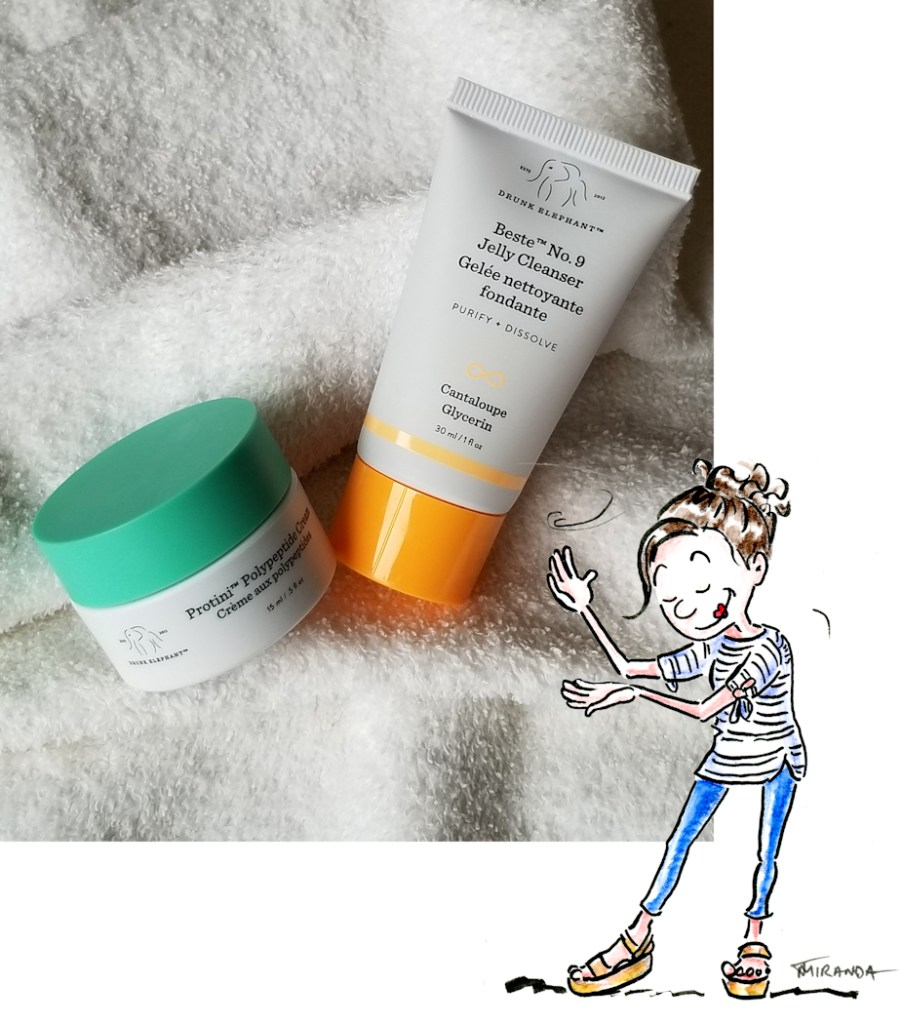Beste No. 9 Jelly Cleanser with little cartoon girl illustration by Joana Miranda