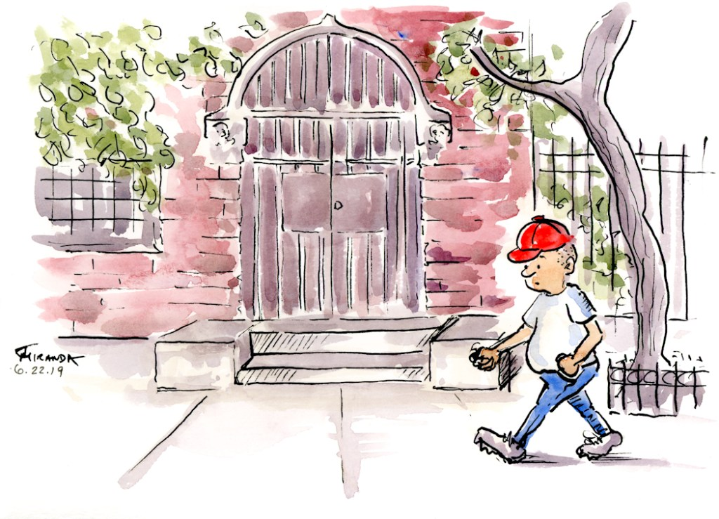 On the Upper West Side - Watercolor Cartoon Drawings by Joana Miranda