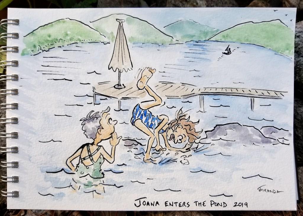 Funny-lakeside-cartoon-journal-illustration-by-Joana-Miranda