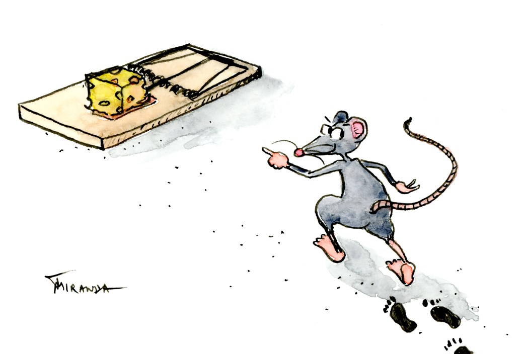 Animals - The Mouse Trap - Funny Cartoon Illustration by Joana Miranda
